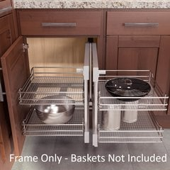 Flex Corner Frame Only For 36 inch Cabinet Silver