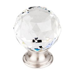 Crystal 1-3/8 Inch Diameter Clear Crystal Cabinet Knob