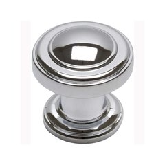 Bronte 1-1/8 Inch Diameter Polished Chrome Cabinet Knob