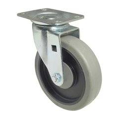 Thermoplastic Rubber Caster with Swivel - Grey
