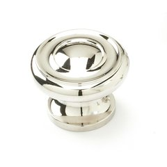 Colonial 1-1/2 Inch Diameter Polished Nickel Cabinet Knob