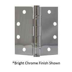 "Full Mort. Ball Bearing Hinge 4-1/2"" X 4-1/2"" Bright Chrome"