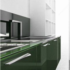 Richelieu Edge 6-5/16 Inch Center to Center Graphite Cabinet Pull 5182160905