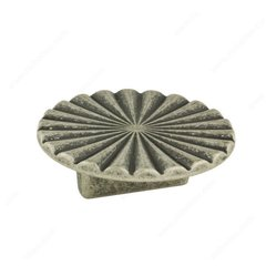 Art Deco 1-1/4 Inch Center to Center Faux Iron Cabinet Pull <small>(#157069904)</small>