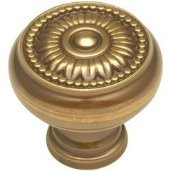 Savannah Knob 1-1/4 inch Diameter Sherwood Antique Brass