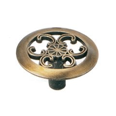 Classic Traditions 1-1/2 Inch Diameter Antique Brass Cabinet Knob <small>(#79005)</small>
