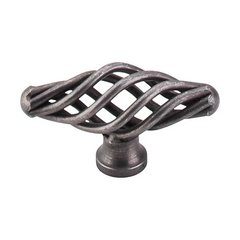Normandy 2-1/8 Inch Length Pewter Cabinet Knob