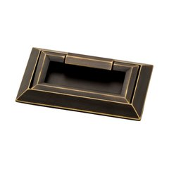 Campaign External Mount Pull 3 inch Center to Center Bronze with Gold Highlight