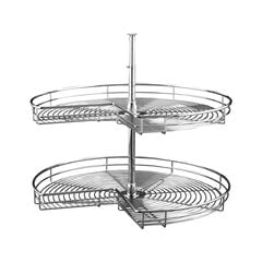 5472 2 Shelf Kidney 32 inch Chrome