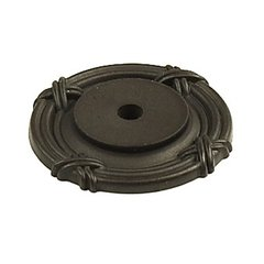 Georgian 1-1/2 Inch Diameter Oil Rubbed Bronze Back-plate