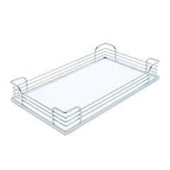 Arena Plus Storage Tray 9 inch W Chrome/White