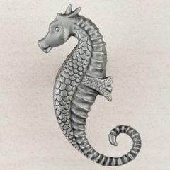 """Seahorse Knob 2-1/4"""" Dia Antique Pewter"""