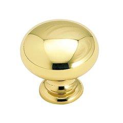 Brass Classics 1-1/4 Inch Diameter Polished Brass Cabinet Knob