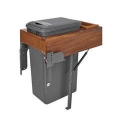 4WCTM Single Trash Pullout 50 Quart Walnut/Gray