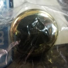Allison Value Hardware Knob 1-1/4 inch Diameter Bright Brass