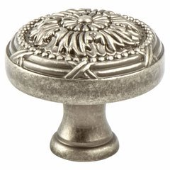 Toccata 1-1/2 Inch Diameter Weathered Nickel Cabinet Knob