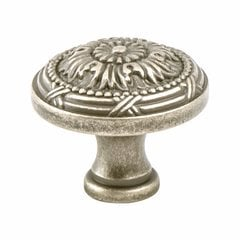 Plymouth 1-1/4 Inch Diameter Weathered Nickel Cabinet Knob
