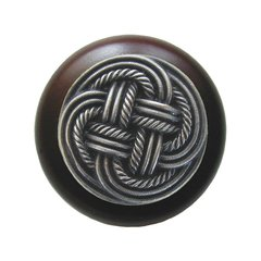 Classic 1-1/2 Inch Diameter Antique Pewter Cabinet Knob <small>(#NHW-739W-AP)</small>