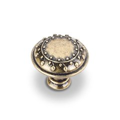 Venezia 1-1/4 Inch Diameter Antique English Machined Cabinet Knob