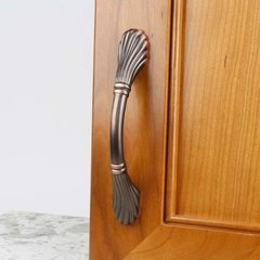 Century Hardware Orchid 3-3/4 Inch Center to Center Antique Bronze/Copper Cabinet Pull 26046-AZC