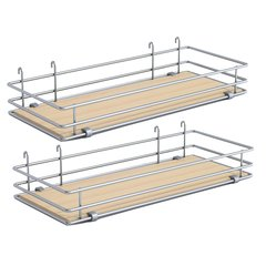 "DSA Two Basket Set 5"" Wide - Silver/Maple <small>(#9000 2587)</small>"