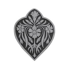 English Garden 1-1/2 Inch Diameter Antique Pewter Cabinet Knob <small>(#NHK-178-AP)</small>