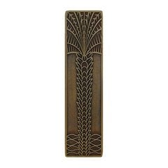 Tropical 3 Inch Center to Center Antique Brass Cabinet Pull <small>(#NHP-322-AB)</small>