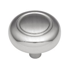 Eclipse 1-1/4 Inch Diameter Satin Silver Cloud Cabinet Knob <small>(#P209-SC)</small>