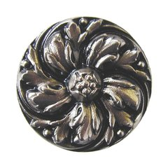 English Garden 1-3/8 Inch Diameter Satin Nickel Cabinet Knob