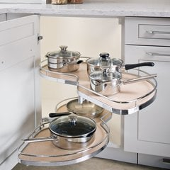 LeMans II Arena 60 Blind Corner Set RH - Chrome/Maple <small>(#541.32.160)</small>