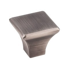 "Marlo Knob 1-1/8"" Long Brushed Pewter"