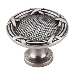 Edwardian 1-1/4 Inch Diameter Pewter Antique Cabinet Knob <small>(#M941)</small>