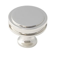 Oberon 1-3/8 Inch Diameter Polished Nickel Cabinet Knob