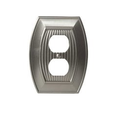 Allison One Receptacle Wall Plate Satin Nickel