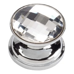 Boutique Crystal 7/8 Inch Diameter Polished Chrome Cabinet Knob <small>(#3197-CH)</small>