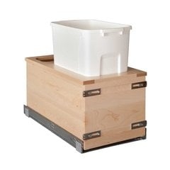 Single Trash Pullout 50 Quart Wood