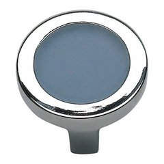 Spa 1-1/4 Inch Diameter Polished Chrome Cabinet Knob <small>(#229-BLU-CH)</small>