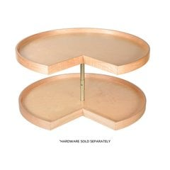 32 inch Pie Cut Lazy Susan - 2 Shelf - Shelves Only