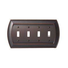 Allison Four Toggle Wall Plate Oil Rubbed Bronze
