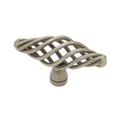 Forged Iron 2-1/2 Inch Diameter Antique Pewter Cabinet Knob <small>(#P0528A-AP-C)</small>
