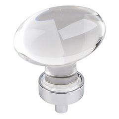 "Harlow Cabinet Knob 1-5/8"" L - Polished Chrome"