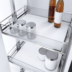 HSA 9-7/8 inch W Pantry Basket Premea Artline Chrome