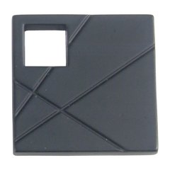 Modernist Knob 1-1/2 inch Diameter Matte Black