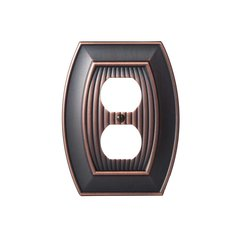 Allison One Receptacle Wall Plate Oil Rubbed Bronze