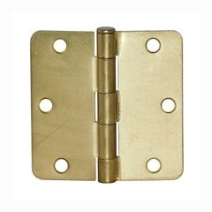 "5/8"" Radius Door Hinge 4"" X 4"" Satin Brass"