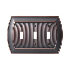 Allison Three Toggle Wall Plate Oil Rubbed Bronze <small>(#BP36530ORB)</small>