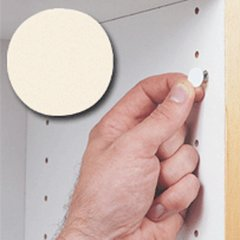 14MM Stick-On Cover Cap Antique White PVC - 1040 Per Box <small>(#FC.SP.916.AW)</small>