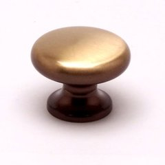 Valencia 1-3/8 Inch Diameter Brushed Bronze Cabinet Knob