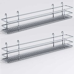 "DSA Two Basket Set 3.38"" Wide - Chrome"