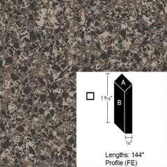 Wilsonart Bevel Edge - Blackstar Granite - 4 ft (Pack of 3)